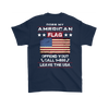 American Flag Shirt (Back) - Navy Blue