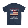 American Flag Shirt - Navy Blue