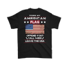 American Flag Shirt (Back) - Black