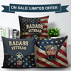 Badass Veteran Pillow Covers