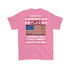 American Flag Shirt (Back) - Azalea