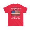American Flag Shirt (Back) - Red