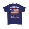 American Flag Shirt (Back) - Purple