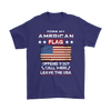 American Flag Shirt - Purple