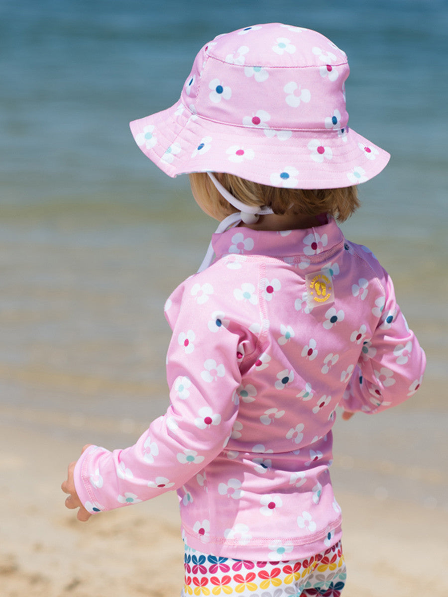 Beach Life Australia - Sandy Feet Australia - Bucket Hat Reversible Pink/Mint