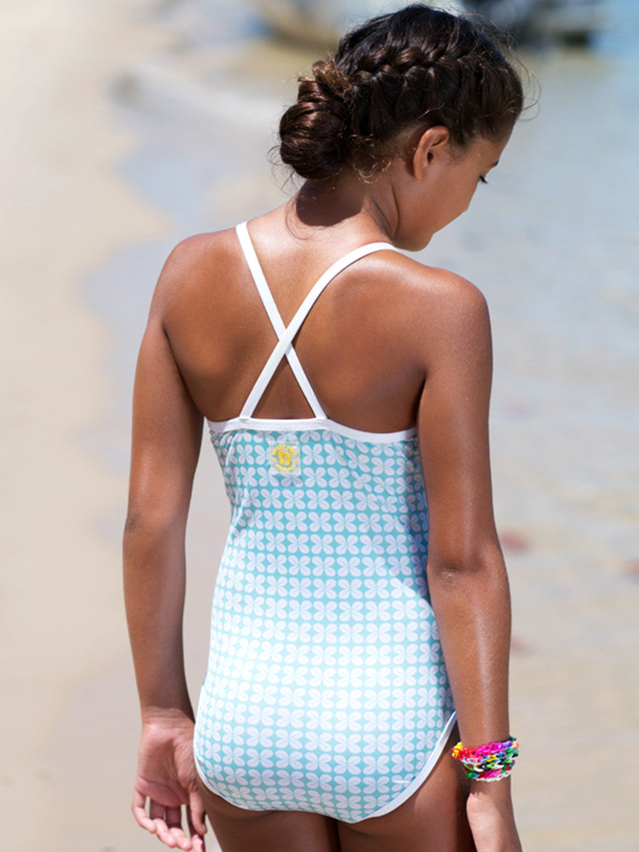 Beach Life Australia - Sandy Feet Australia - One Piece Mint Geo Swimsuit