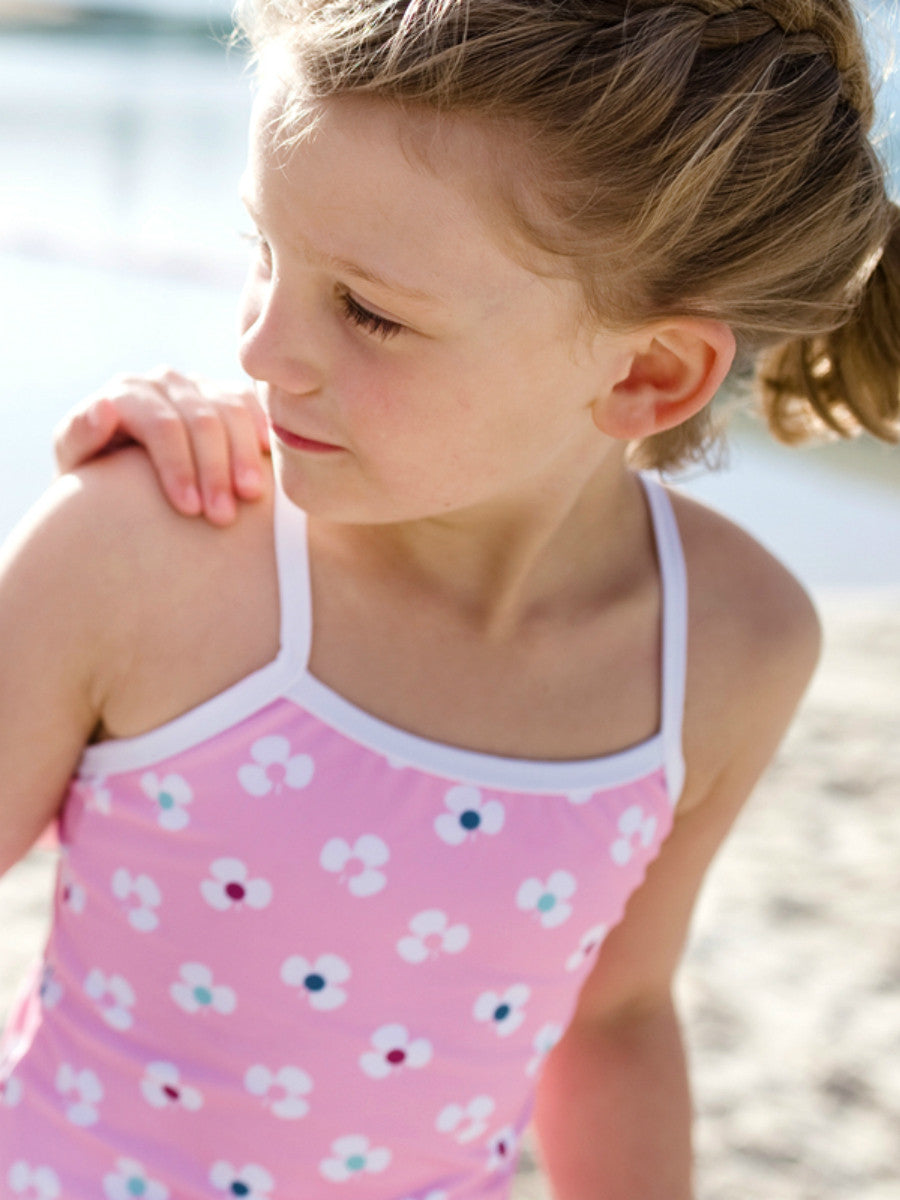Beach Life Australia - Sandy Feet Australia - One Piece Pink Flower Swimsuit