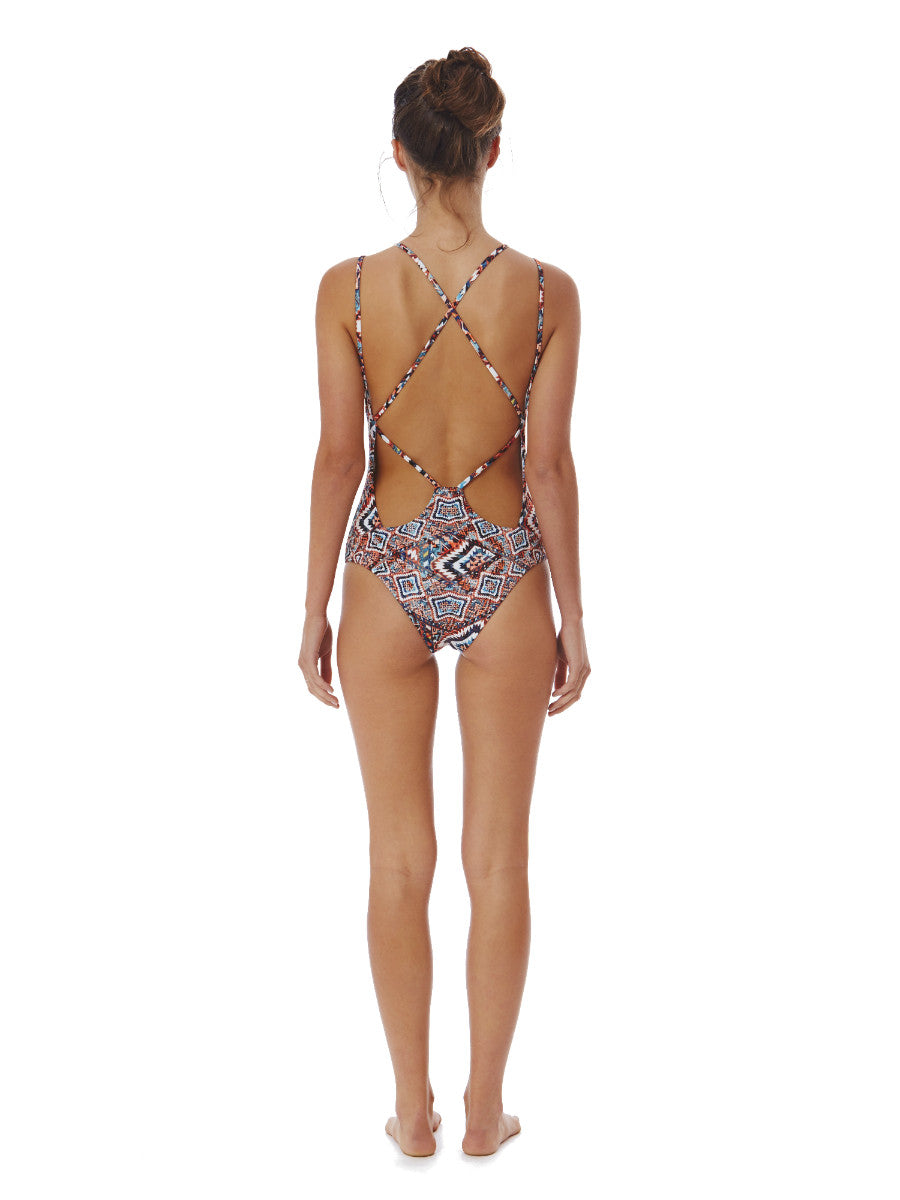 Marrakech Red Australian One Piece - Fella Swim - The Tarantino - Beach Life Australia