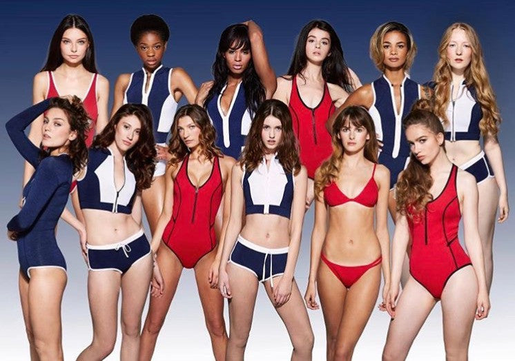 Britains Next Top Model swimsuits