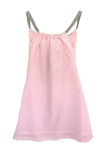 Girls age 2-4 | Tie Beach Dress Pink, Yellow and Duck-Egg Blue