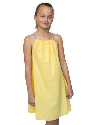 Beach Life Australia - Sandy Feet Australia - Girls Tie Beach Dress Yellow