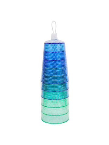 Beach Life Australia - Sunnylife - Party Cups 6 Set Biscay Green and Dazzling Blue