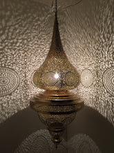 Large moroccan brass lamp