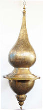 Large moorish brass chandelier - Moorish Lighting - Moorishlighting