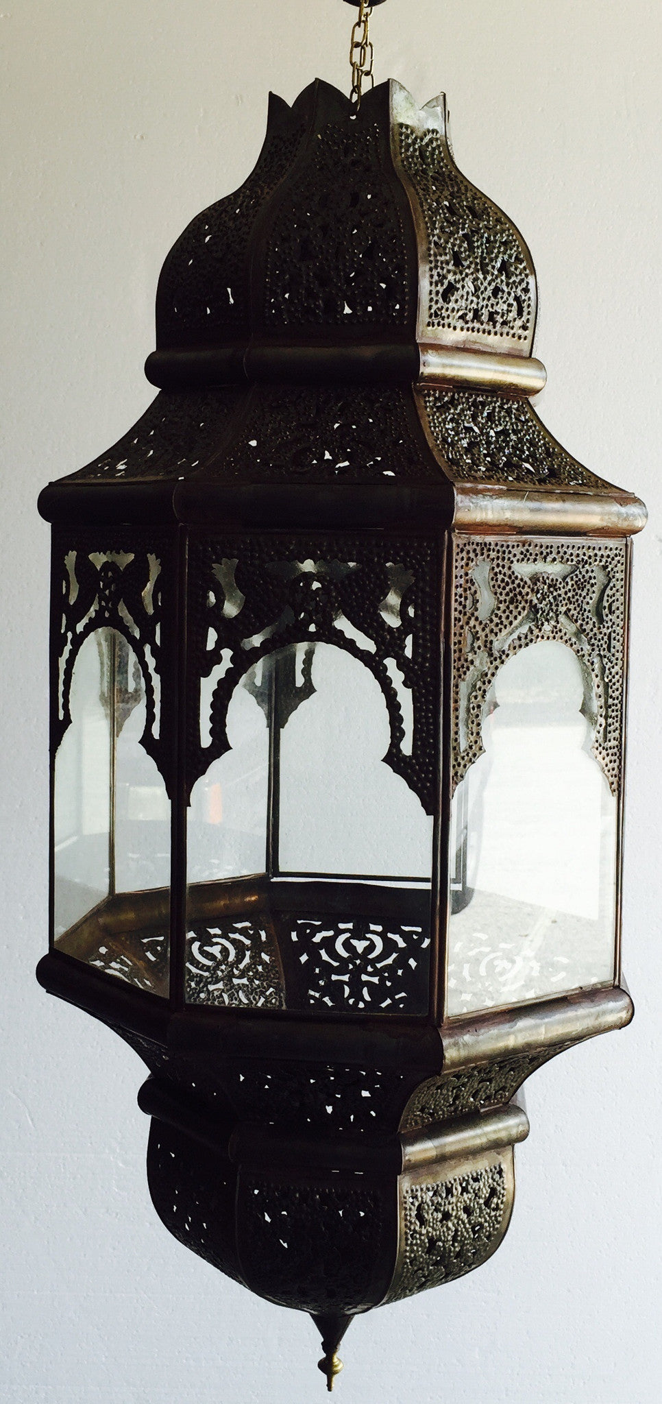 Moorish metal large lantern - handmade Moorish Lighting - Moorishlighting