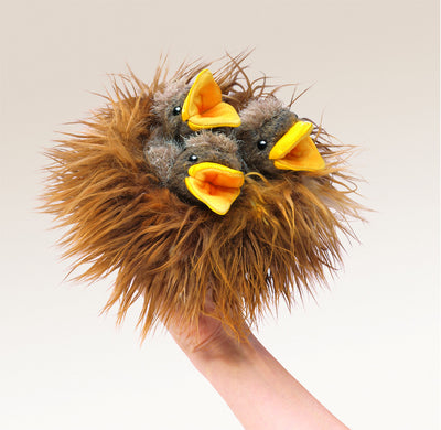 Baby Birds in a Nest Puppet