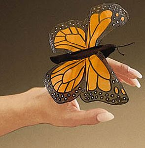 Mini Monarch Finger Puppet