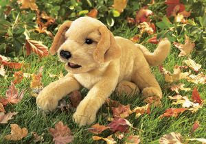Yellow Lab Puppy Puppet