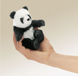 Mini Panda Finger Puppet
