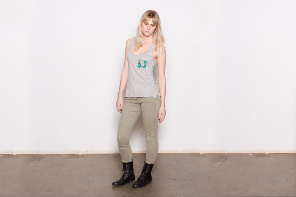 THE LADY LIBERTY scoopneck tank