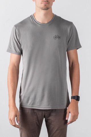 THE FIXIE EMBLEM_men's grey classic tee
