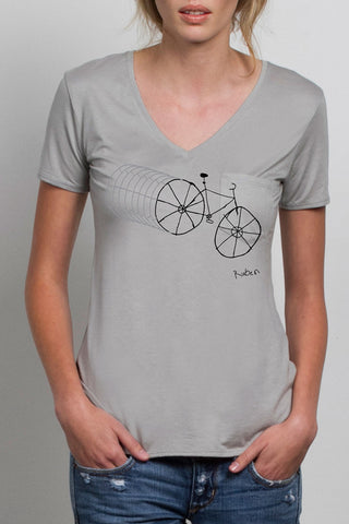 THE FIXIE_signature grey vneck tee