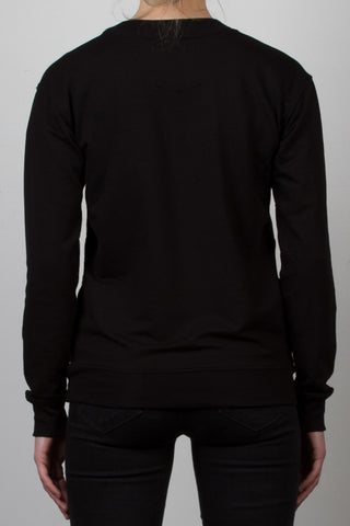 THE WADDLE_signature fleece black sweatshirt