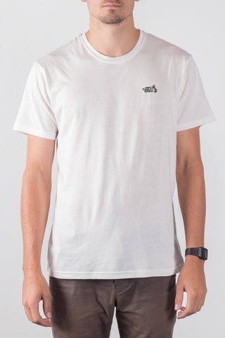 THE MOTO deconstructed_men's white classic tee