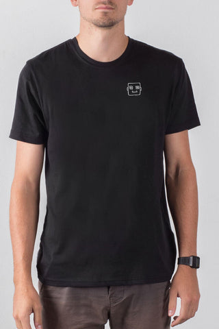 THE BOT deconstructed_men's black classic tee