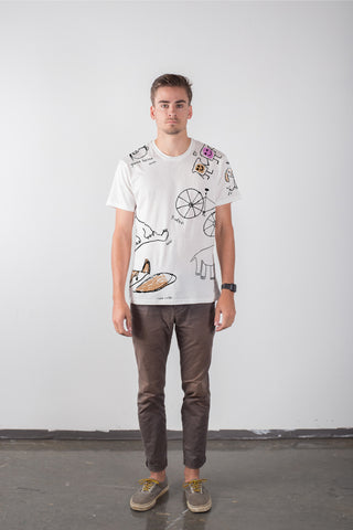 THE POPS PRINT_men's white classic tee