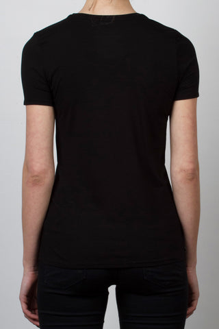 THE TINY DANCER_signature black crewneck tee