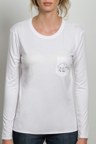 THE TINY DANCER_signature white longsleeve tee