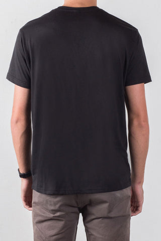 THE MOTO_men's black classic tee