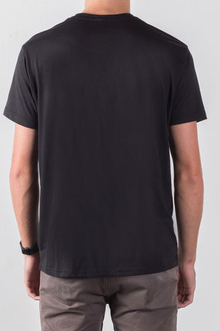 THE WISHBONE_men's black classic tee