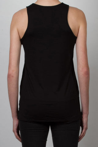 THE SYLVESTER_signature black racerback