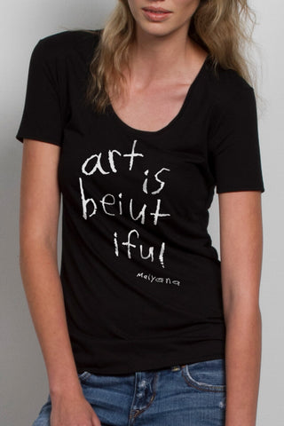 THE KIND WORDS_signature black scoopneck