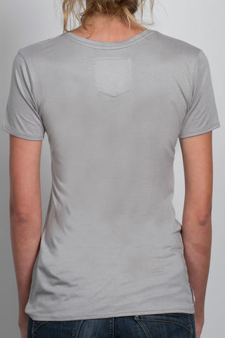 THE KIND WORDS_signature grey scoopneck tee