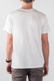 umano men's white crewneck tee THE WISHBONE t-shirt