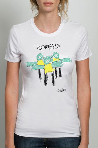 THE ZOMBIE_signature white crewneck tee