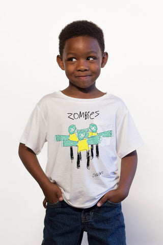 THE ZOMBIE_mini white crewneck tee