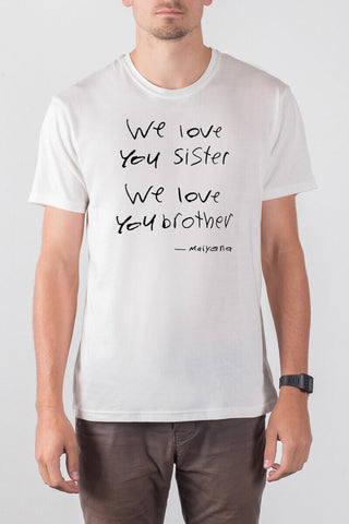 THE KIND WORDS_men's white classic tee