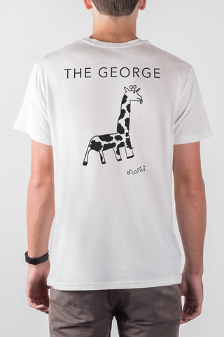 THE GEORGE_men's white classic tee
