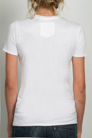THE TINY DANCER_signature white crewneck tee