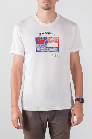 THE KAREN_men's white classic tee
