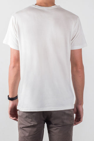 THE TINY DANCER_men's white classic tee