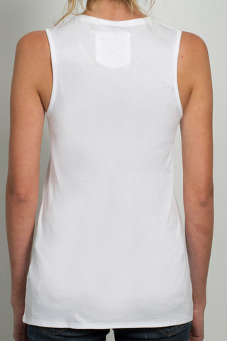 THE SYLVESTER_signature white muscle tank