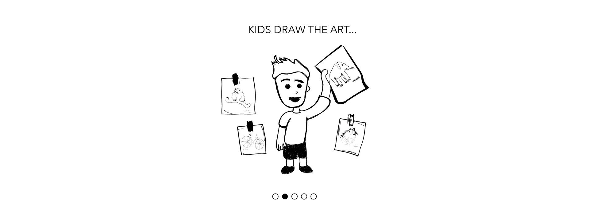 kids draw the art...