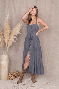 Josie Button Maxi Dress