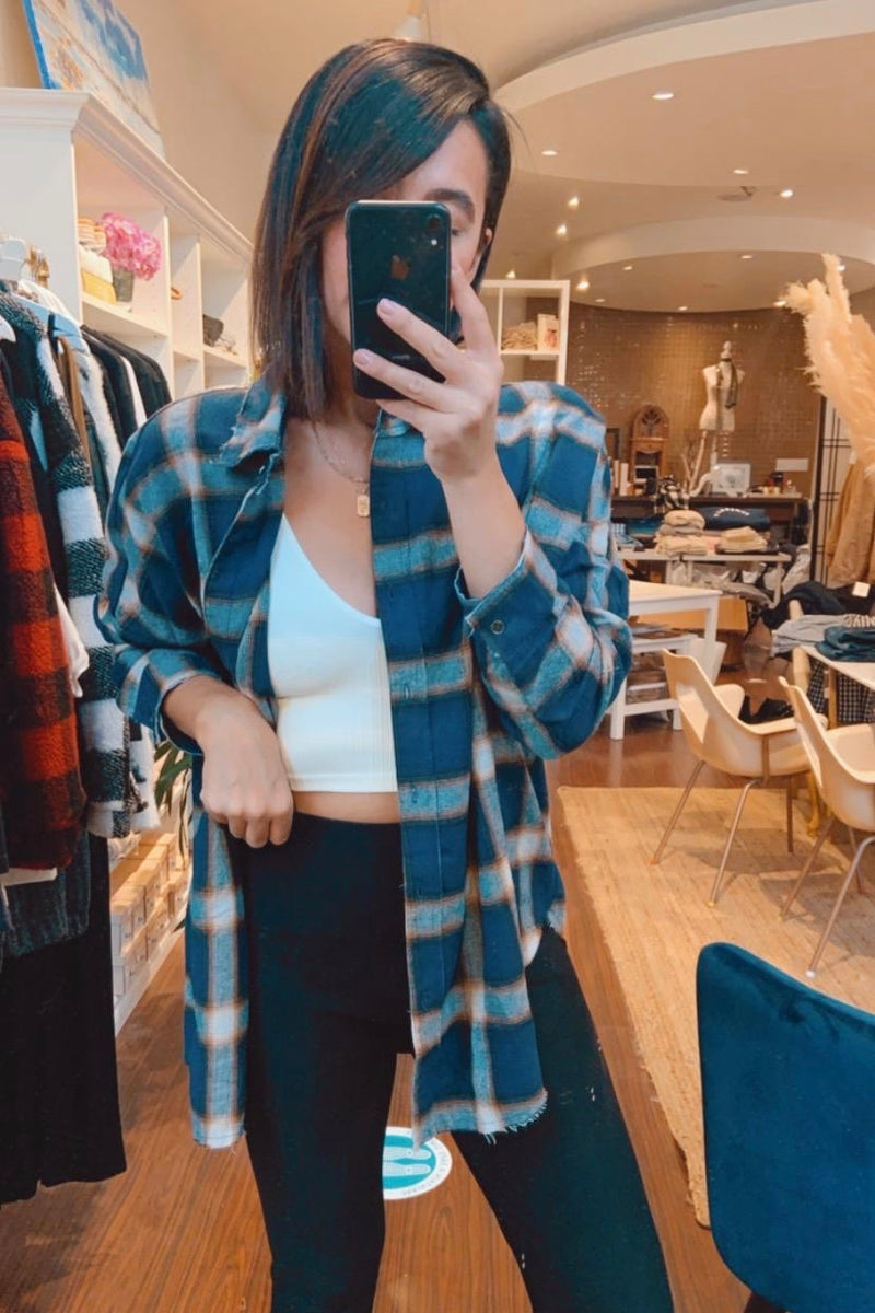 PREORDER Hudson Plaid Top