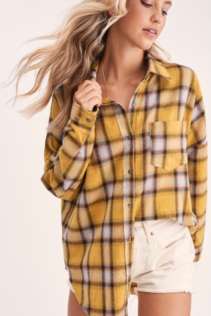 Hudson Plaid Top